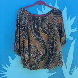 Lovely Day Free People Paisley Sheer Top